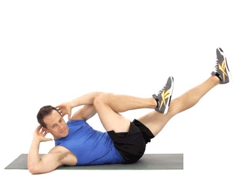 کرانچ کج از ورزش های شکم