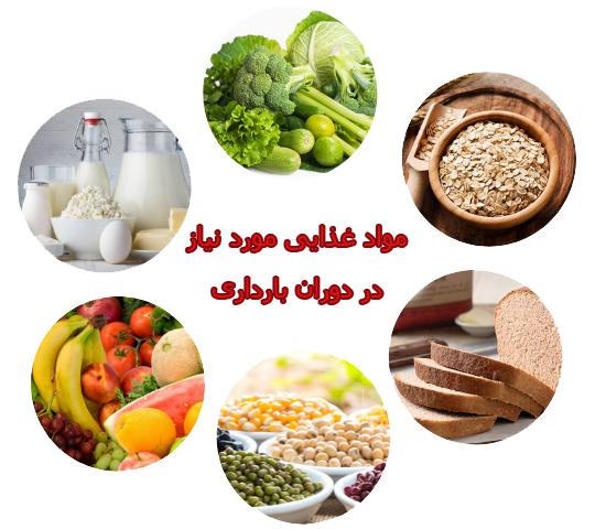 مواد غذایی مورد نیاز در زمان بارداری