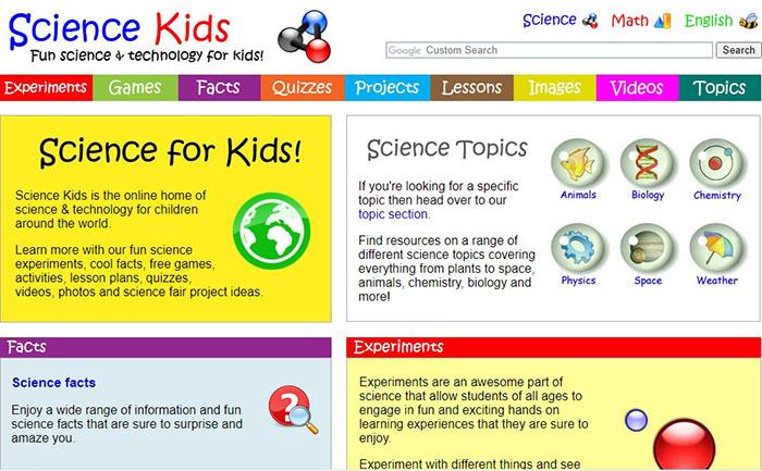 سایت آموزشی ساینس کیدز
