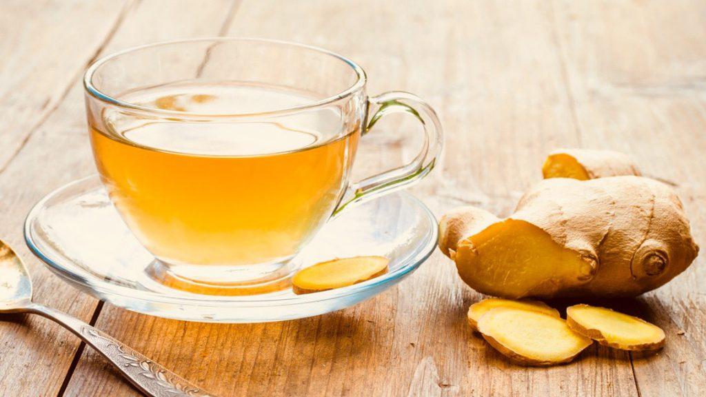 نوشیدن چای زنجبیل برای درمان سردرد
