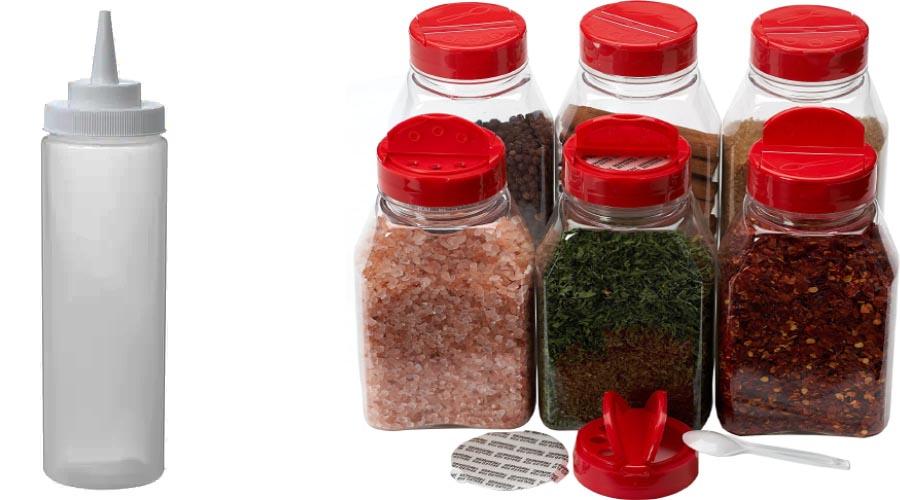 موارد ضروری گردش پیک نیک: گذاشتن ادویه و سس در ظروف کوچک