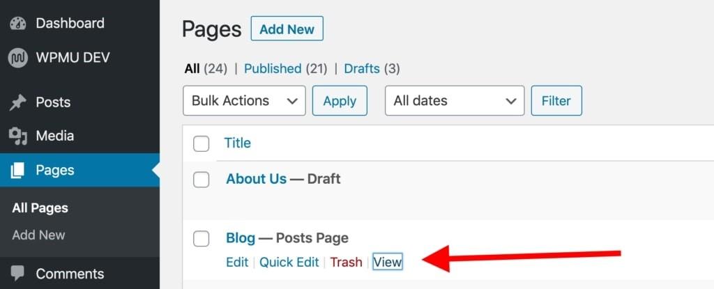 ایجاد یک صفحه وبلاگ