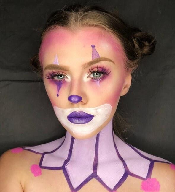 آرایش هالووین دلقک
