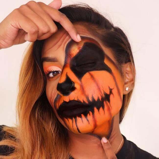آرایش هالووین کدو تنبل