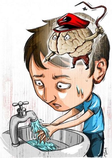 شستن مکرر دست ها شناخته شده ترین علامت وسواس فکری است