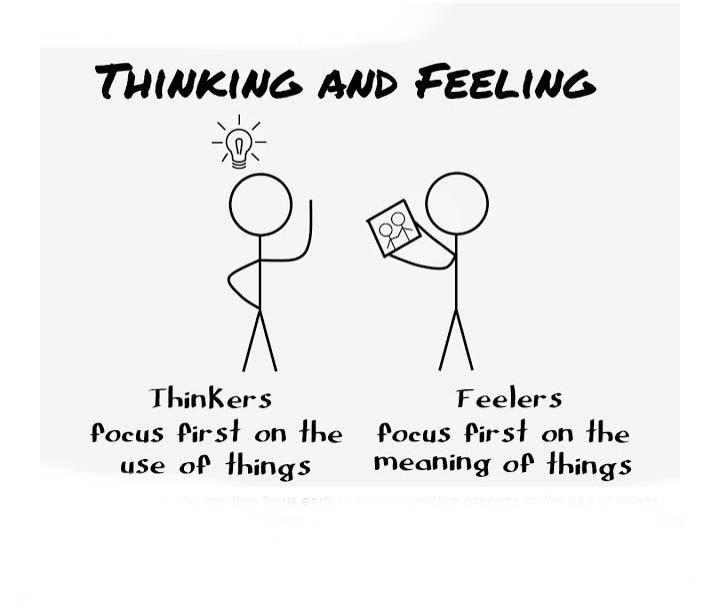 احساسی ها  ومنطق گرایان در تست MBTI