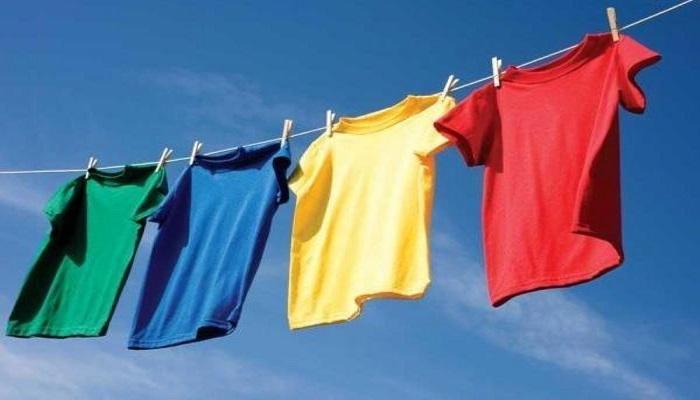 لباس ها در هوای آزاد خشک کنید.