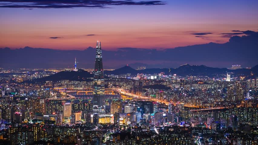 نمایی از شهر سئول در کره جنوبی