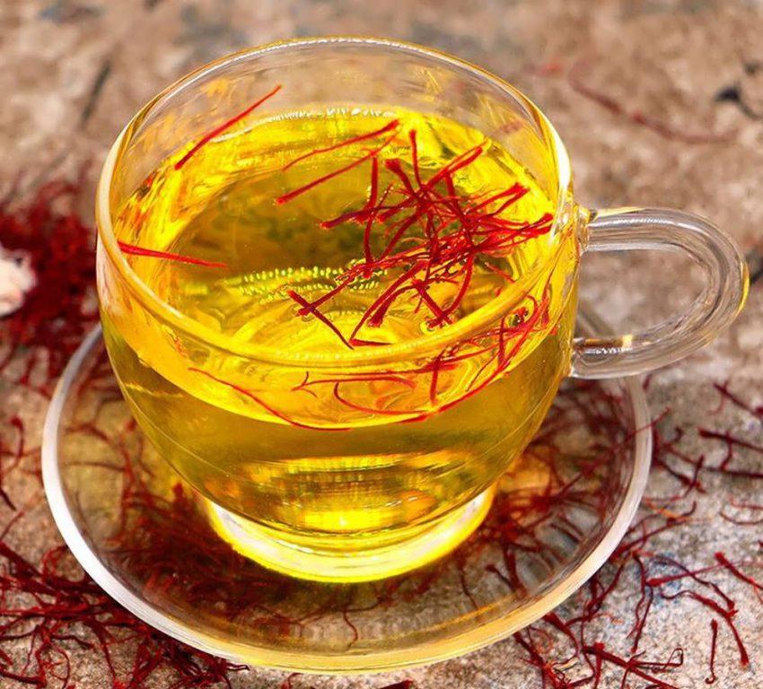 به شیوه زیر چای زعفرانی درست کنید