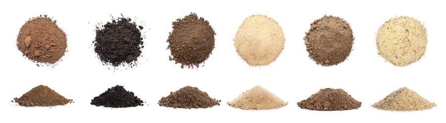 انواع مختلف خاک.