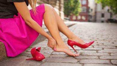 عوارض پوشیدن کفش پاشنه بلند.