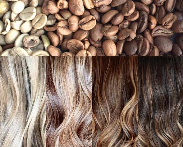 رنگ مو با قهوه