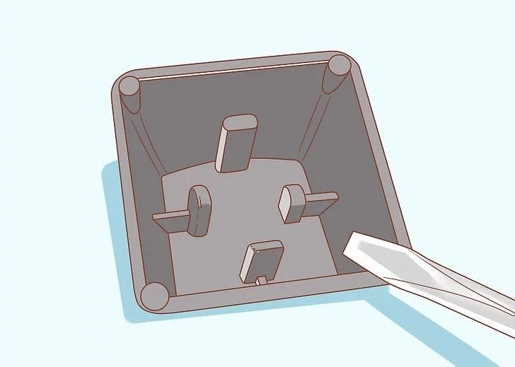 اتصال کلید بر روی کیبورد دسکتاپ