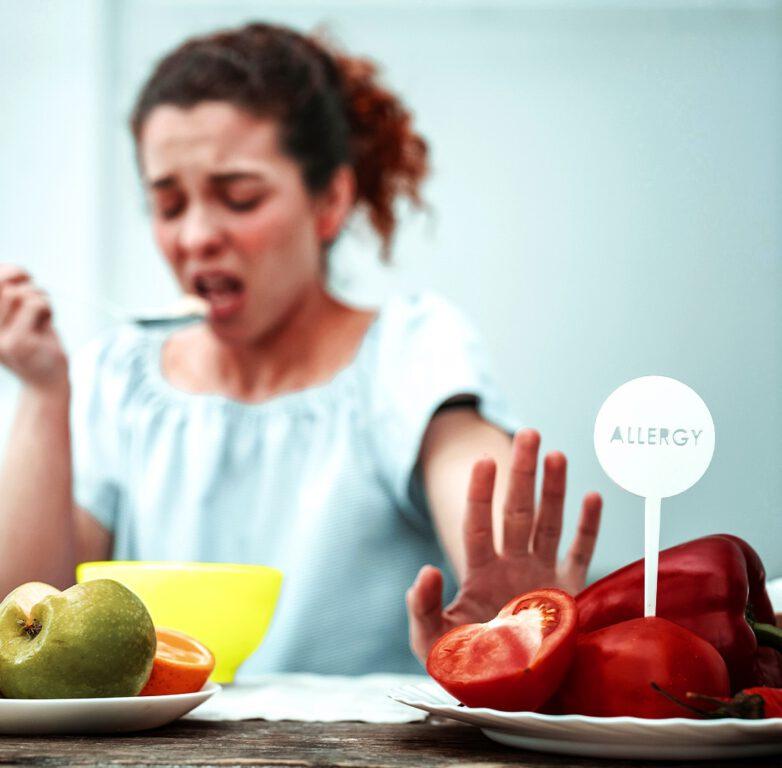 آلرژی به بعضی غذا ها