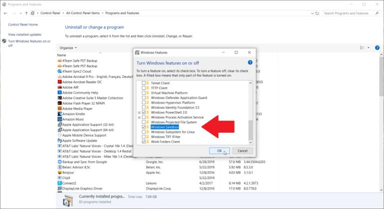 فایل ها و برنامه ها را در Sandbox آزمایش کنید