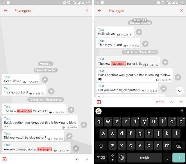 هشتگ ها در تلگرام