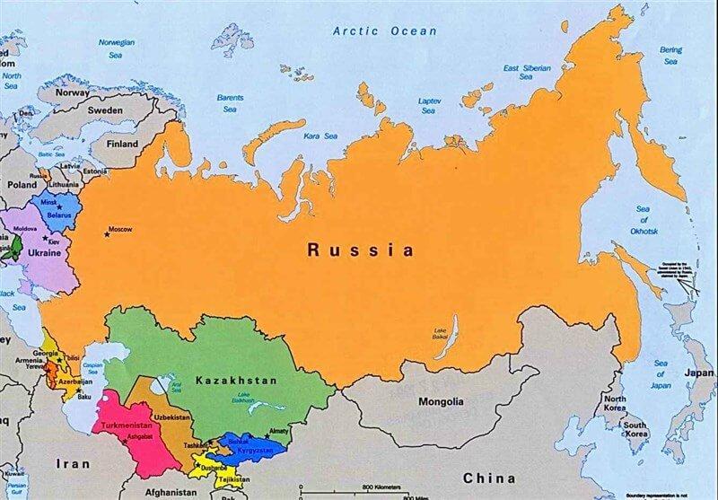 روسیه بزرگ ترین کشور جهان است