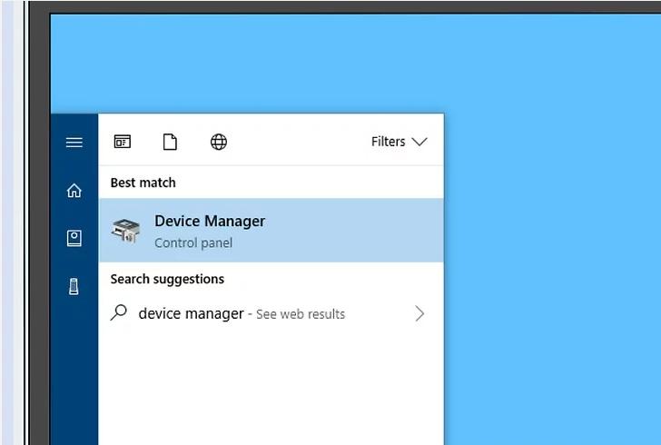 Device manager را باز کنید