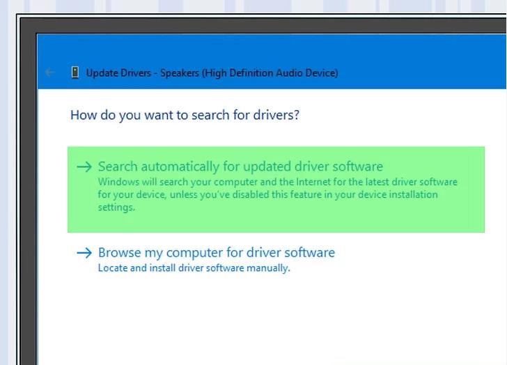بر روی Search automatically for updates driver software کلیک کنید