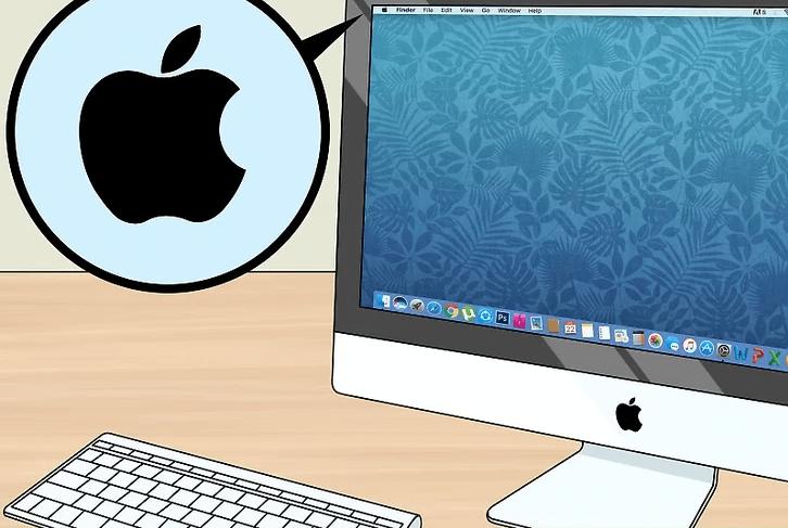 منوی Apple را باز کنید