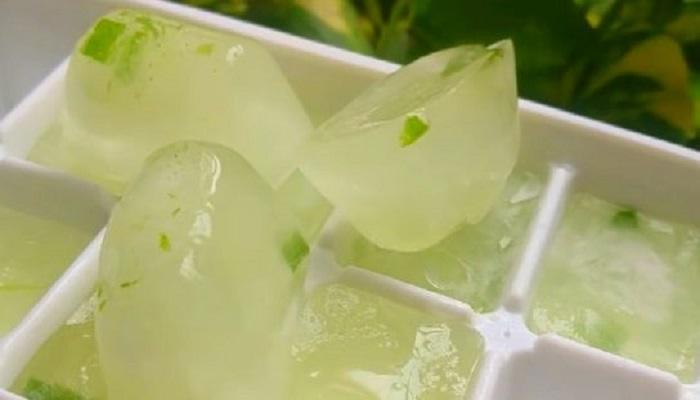 یخ آلوئه ورا برای پوست