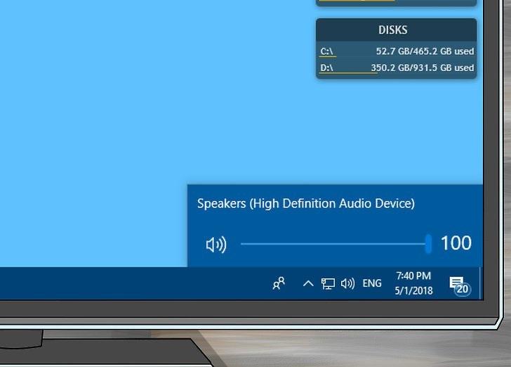 میزان صدای اسپیکرها یا رایانه خود را بررسی کنید