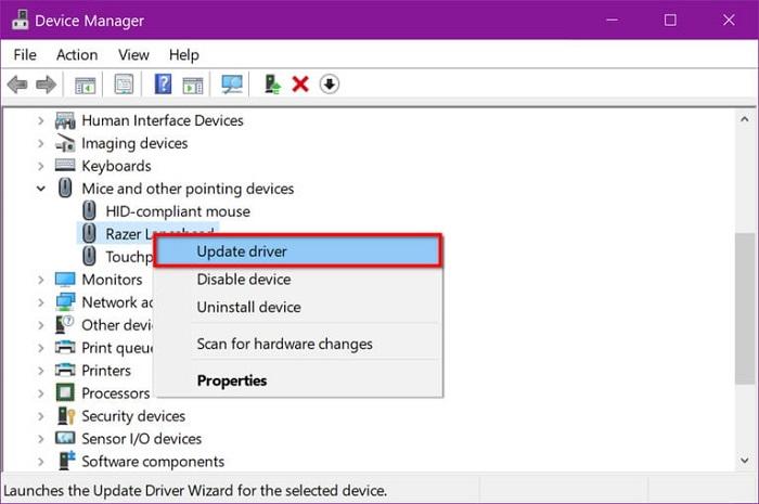 آپدیت کردن درایور های ویندوز از طریق Device Manager