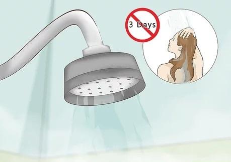 پس از کراتین حداقل مو های خود را بعد سه روز بشویید