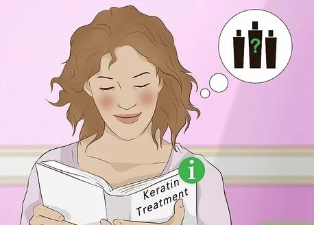 کراتین در واقع موها را صاف نمی کند. درمان انجام می دهد.