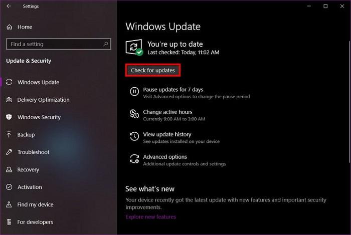 آپدیت کردن درایور های ویندوز از طریق windows update