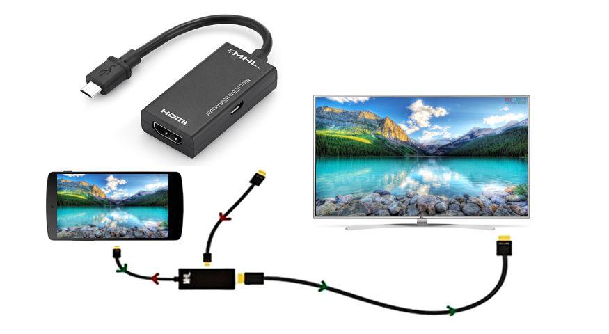 آداپتور MHL برای اتصال گوشی به تلویزیون