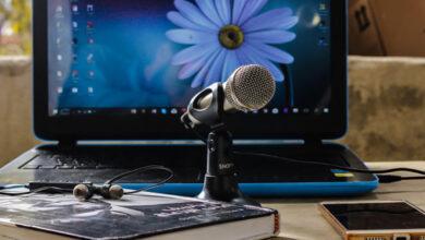 اتصال میکروفون کامپیوتر