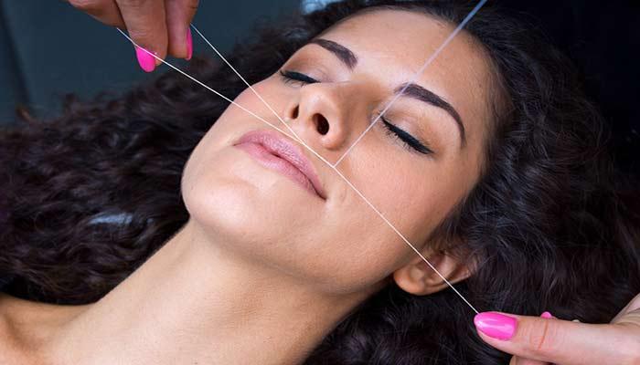بند زدن، یکی از متداول ترین راه های از بین بردن مو های زائد صورت