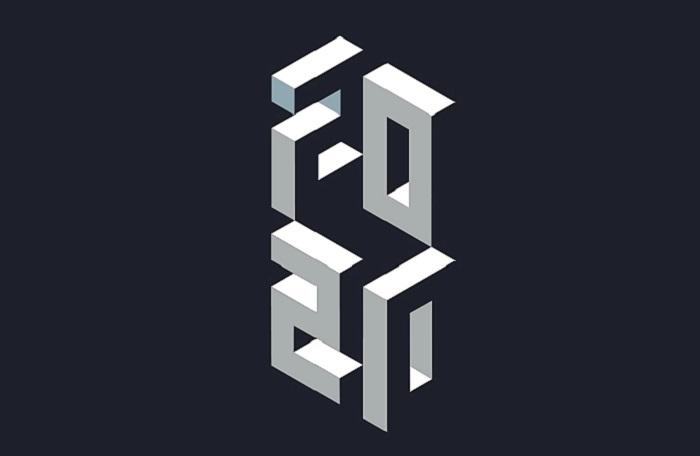 فضای پر و خالی در طراحی لوگو سه بعدی