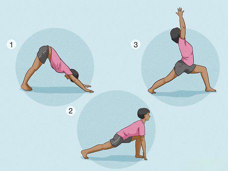 حرکات را پیوسته کششی، برای انعطاف پذیری بدن.