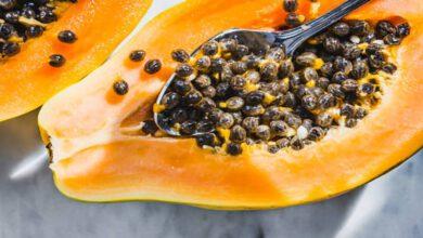 خوردن دانه پاپایا